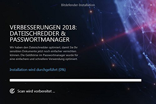 Bitdefender Total Security Multi Device 2018 – 10 Geräte | 1 Jahr / 365 Tage (MAC, Windows, Android & iOS) - Aktivierungscode - 6