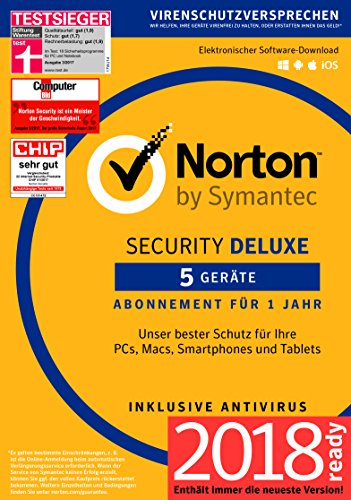 Norton Security Deluxe Antivirus Software 2018