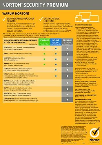 Norton Security Premium Antivirus Software 2018 / Zuverlässiger Virenschutz (Jahres-Abonnement) für bis zu 10 Geräte inkl. Familienschutz (Kindersicherung) / Download für Windows, Mac, Android & iOS - 2