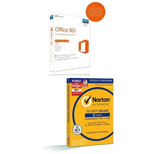 Microsoft Office 365 Home + Symantec Norton Security Deluxe