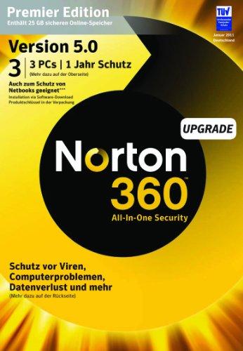NORTON 360 PREMIER V5.0 3 PC - Upgrade - inkl. Updatemöglichkeit auf Version 6.0 - 2