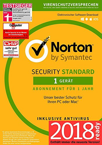 Norton Security Standard 2018 | 1 Gerät | 1 Jahr | Windows/Mac/Android/iOS |Versand in frustfreier Verpackung |Inklusive MH-Imperial Kundensupport - 2