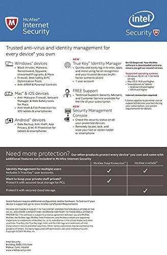McAfee Internet Security - Software Edition 2018 von der Herstellerseite - Für eine unbegrenzte Anzahl an Geräten mit den neusten Updates FFP(Frustfreie Verpackung) - 2