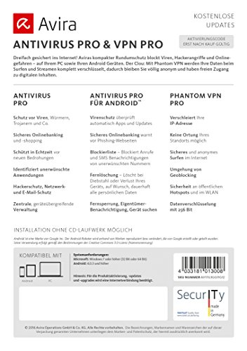 Avira AntiVirus & Phantom VPN Pro 2017 (3 Geräte / 1 Jahr) - 3