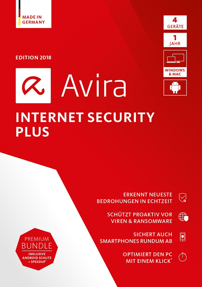 Avira Internet Security Plus Edition 2018, 4 Geräte