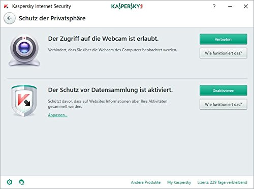 Kaspersky Internet Security 2018 Standard | 2 Geräte | 1 Jahr | Limited: + 2 Android-Schutz + 2 Password Manager | Windows/Mac/Android | Download - 3