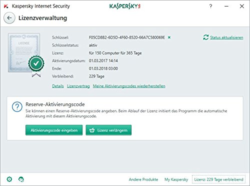 Kaspersky Internet Security 2018 Standard | 2 Geräte | 1 Jahr | Limited: + 2 Android-Schutz + 2 Password Manager | Windows/Mac/Android | Download - 6