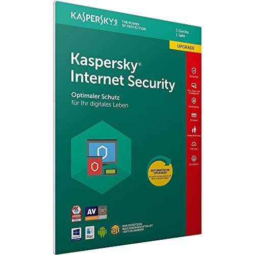Kaspersky Internet Security 2018 Upgrade, 5 Geräte, 1 Jahr