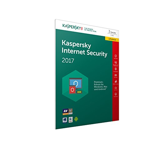 Kaspersky Internet Security Upgrade 2017 | 3 Geräte  | 1 Jahr | PC/Mac/Android | Download - 2