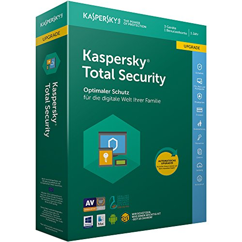 Kaspersky Total Security 2018 Upgrade | 3 Geräte | 1 Jahr