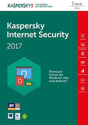 Kaspersky Internet Security 2017 - 1 PC - Code in Box