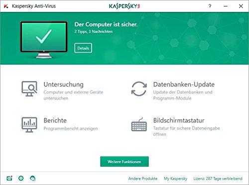 Kaspersky Anti-Virus 2018 Upgrade | 1 Gerät | 1 Jahr | Windows | Download - 2