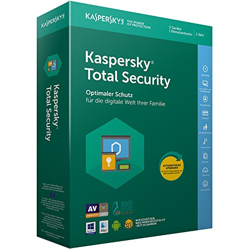 Kaspersky Total Security 2018 Standard | 3 Geräte | 1 Jahr