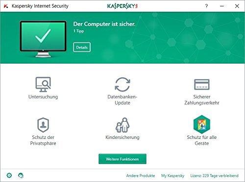 Kaspersky Internet Security | Neu: 2018 | 3 Geräte | 1 Jahr | Aktivierungscode & Datenrettung by EaseUS CD-ROM - 2