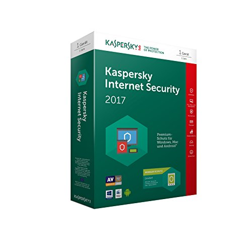 Kaspersky Internet Security 2017 | 1 Gerät + 1 Android Gerät  | 1 Jahr | PC/Mac/Android | Download - 2