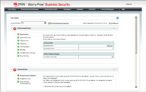 Trend Micro Worry-Free Business Security Advanced Version 6.x (20 User, Verlängerung) - 4