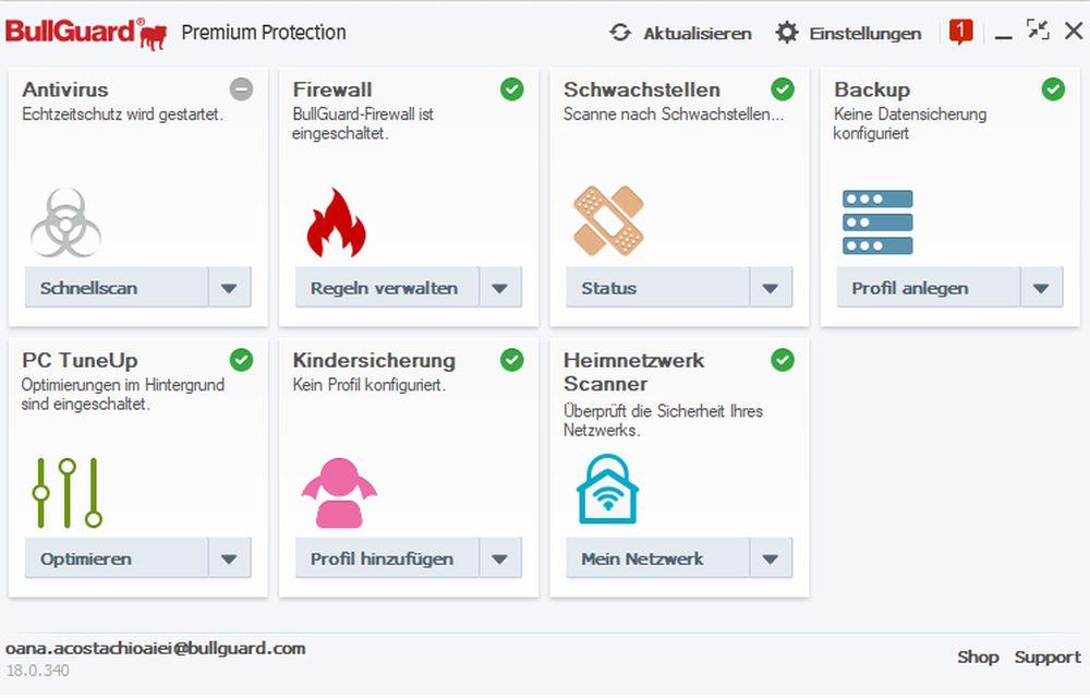 BullGuard Premium Protection 2018 - Lizenz für 1 Jahr und 10 Geräte! Windows|MacOS|Android [Online Code] - 3