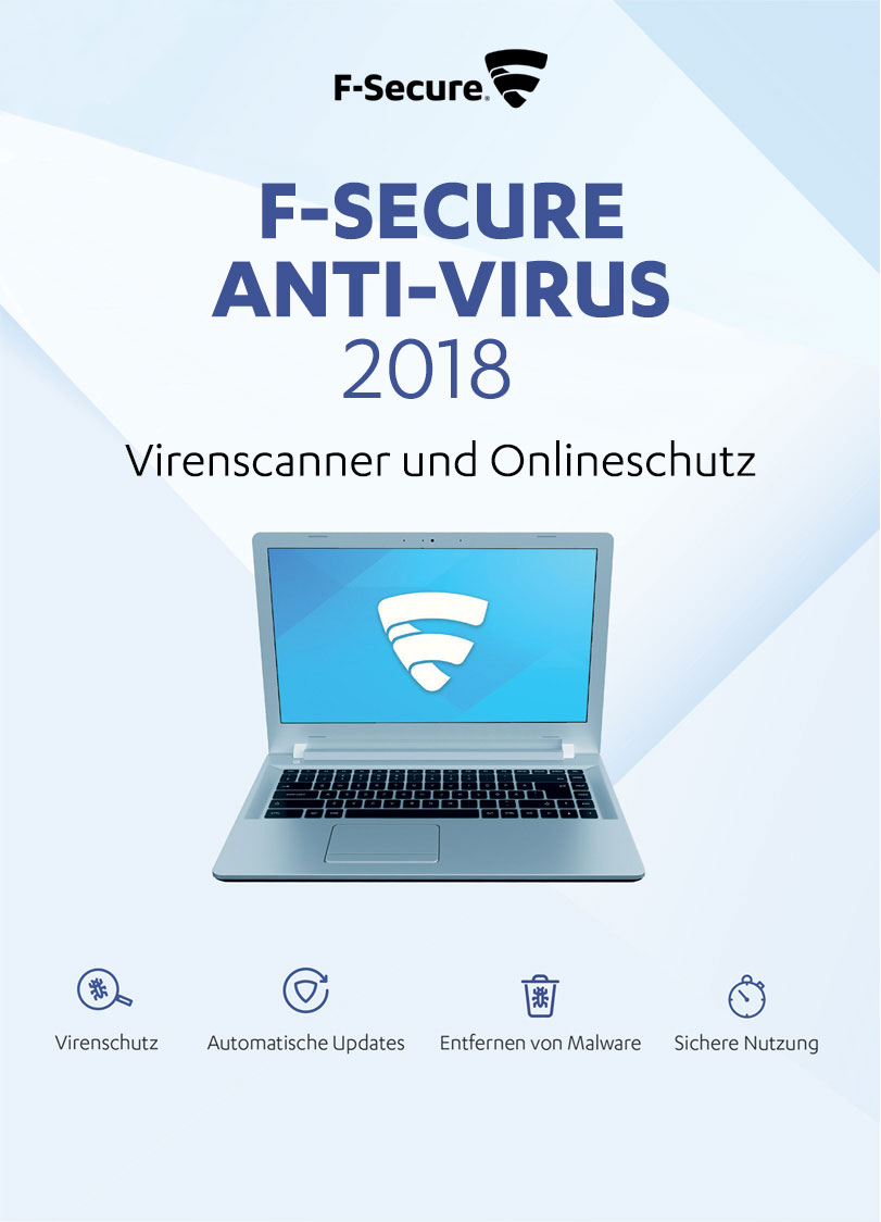 F-Secure Anti-Virus - Update 1 Jahr / 1 PC (2018)