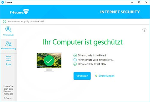 F-Secure Internet Security Update - 1 Jahr / 3 PCs - 2