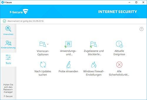 F-Secure Internet Security Update - 1 Jahr / 3 PCs - 4