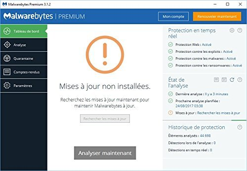 Malwarebytes Premium 3.0 für Windows - MALWAREBYTES offizieller Partner (direkter Download) - 3