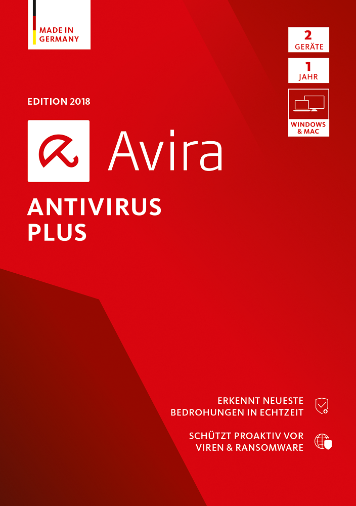 Avira Antivirus Plus Software Edition 2018