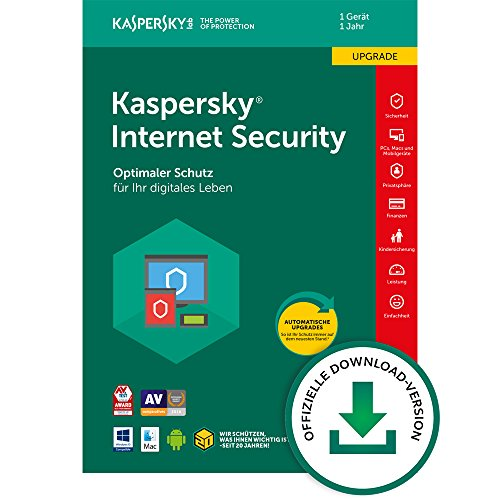 Kaspersky Internet Security 2018 Upgrade, 1 Gerät