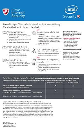 McAfee Internet Security 2016 unlimited - für eine unbegrenzte Anzahl an Geräten (Minibox Verpackung) - 2