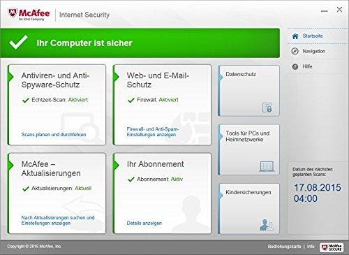 McAfee Internet Security 2016 unlimited - für eine unbegrenzte Anzahl an Geräten (Minibox Verpackung) - 3