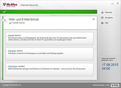 McAfee Internet Security 2016 unlimited - für eine unbegrenzte Anzahl an Geräten (Minibox Verpackung) - 8