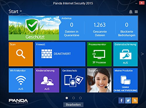 Panda Internet Security 2015 3 PCs / 1 Jahr - 2