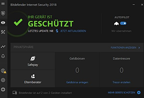 Bitdefender Internet Security Multi-Device 2018 - 2 Jahre / 5 Geräte + VPN - 2