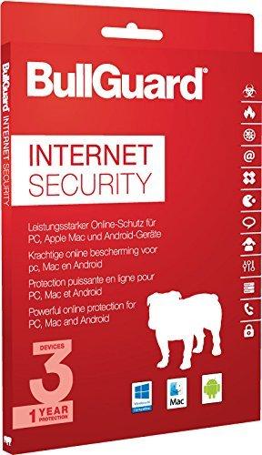 BullGuard Internet Security 2017 1 Jahr/3 Geräte (Win, MAC, Android) - 2