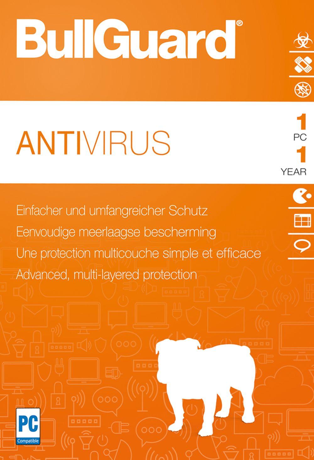 Bullguard Antivirus 2018 - Lizenz für 1 Jahr und 1 PC
