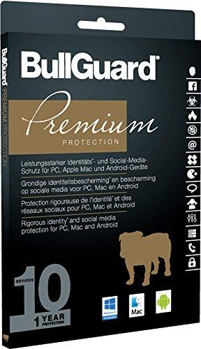 BullGuard Premium Protection 2017  1 Jahr/10 Geräte (Win, MAC, Android) - 2