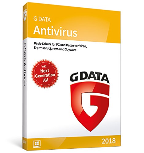 G DATA Antivirus 2018 für 1 Windows-PC