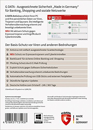 G DATA Antivirus 2017 für 1 PC - 2