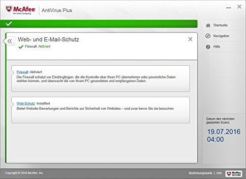 McAfee AntiVirus Plus 2017 | 10 Geräte | 1 Jahr | PC/Mac/Smartphone/Tablet | Download - 7