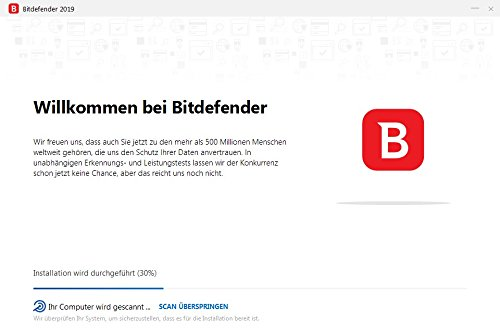 Bitdefender Antivirus Plus 2019 PC Edition – 1 PC | 1 Jahr / 365 Tage (Windows Geräte) - Aktivierungscode & Installationsanleitung (bumps packaged) - 7