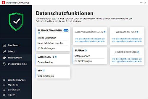 Bitdefender Antivirus Plus 2019 - Inkl. VPN - 3 Jahre / 5 Geräte für PC - 4