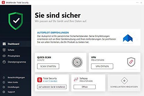 Bitdefender Antivirus Plus 2019 PC Edition – 1 PC | 2 Jahre / 730 Tage (Windows Geräte) - Aktivierungscode & Installationsanleitung (bumps packaged) - 9