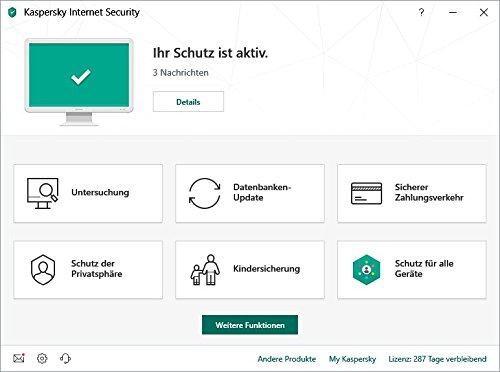 Kaspersky Internet Security 2019 5 Geräte Upgrade Mini-Box|Upgrade|5|1 Jahr|PC/Mac/Android|Download|Download - 2