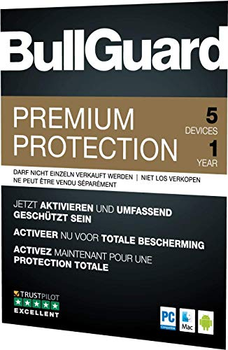 BullGuard Premium Protection 2019 1Y/5 Geräte Retail|Standard/Upgrade/Home/Personal/Professional usw.|5 Gerät|1 Jahr|PC, MAC, Android|Download|Download - 3