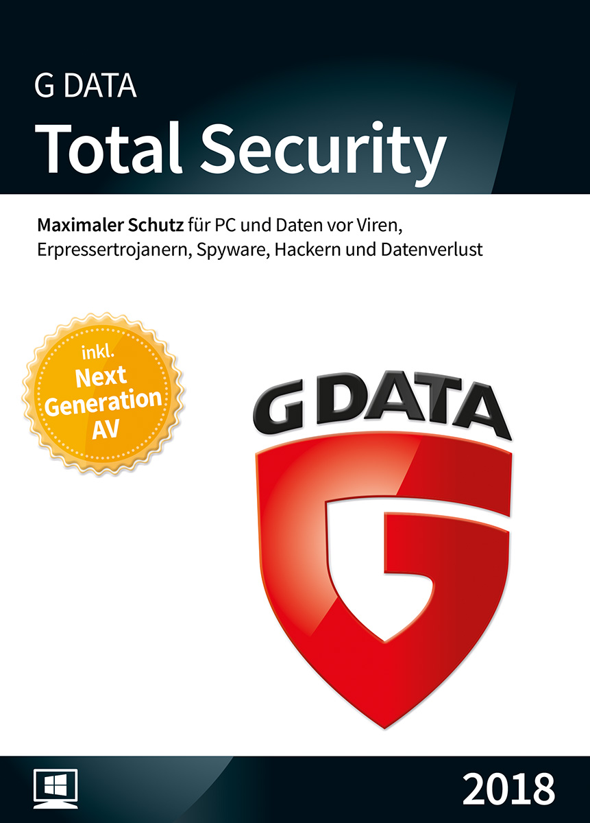 G DATA Total Security 2019 für 1 Windows-PC / 1 Jahr