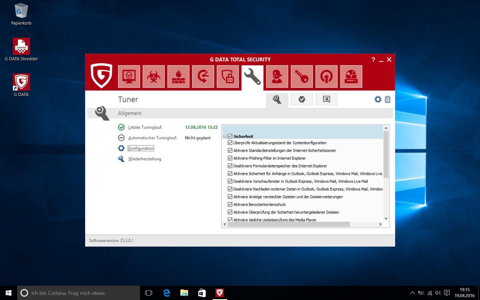 G DATA Total Security 2019 für 1 Windows-PC / 1 Jahr / Erstklassiger Rundumschutz durch Firewall & Antivirus / Trust in German Sicherheit[Download] - 9