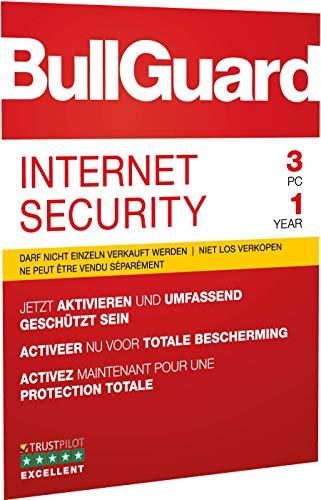 BullGuard Internet Security 2019 1J/3 Geräte Windows|Standard/Upgrade/Home/Personal/Professional usw.|3 Gerät|1 Jahr|PC|Download|Download - 2