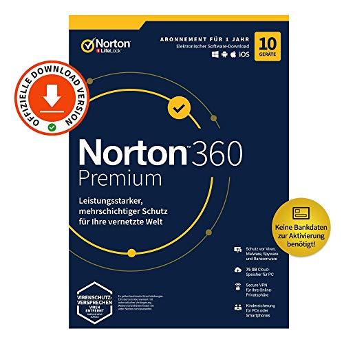 Norton 360 Premium 2020, 10-Geräte,