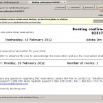 Falsche Buchungsbestätigung von booking.com